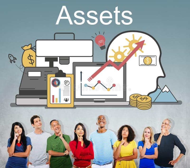 Concepto financiero del dinero de la contabilidad de activos foto de archivo libre de regalías