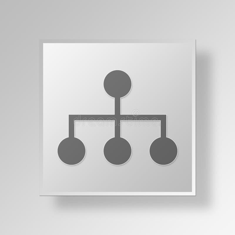 concepto financiero del negocio del icono de la jerarquía 3D ilustración del vector