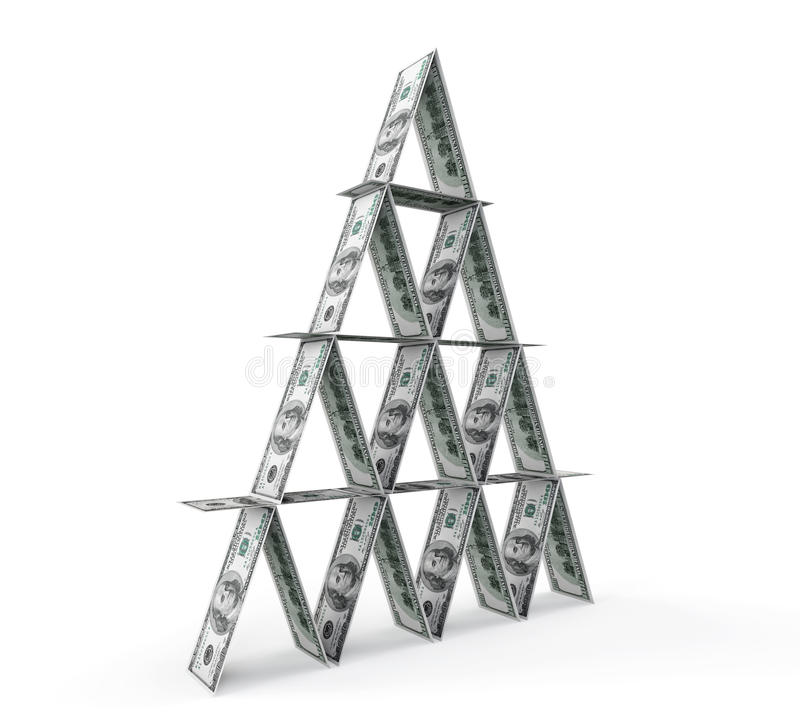Concepto financiero. Pirámide abstracta del dinero libre illustration