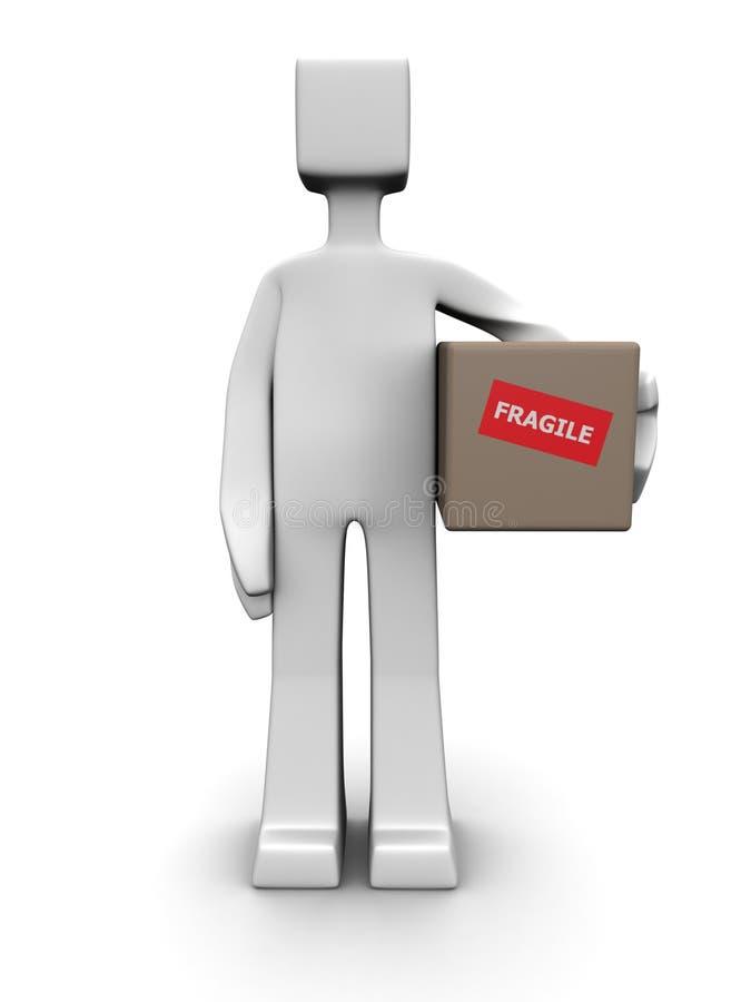 Concepto frágil del paquete del envío y de la salida libre illustration