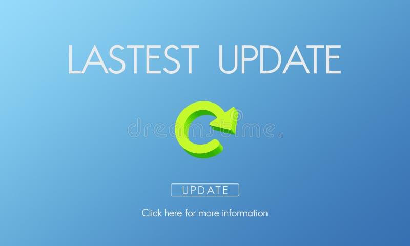 Concepto fresco de las actualizaciones de la aplicación de las actualizaciones de la última versión fotos de archivo libres de regalías