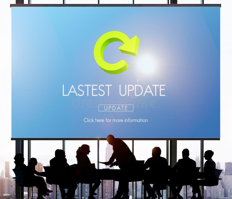 Concepto fresco de las actualizaciones de la aplicación de las actualizaciones de la versión de Lastest fotos de archivo