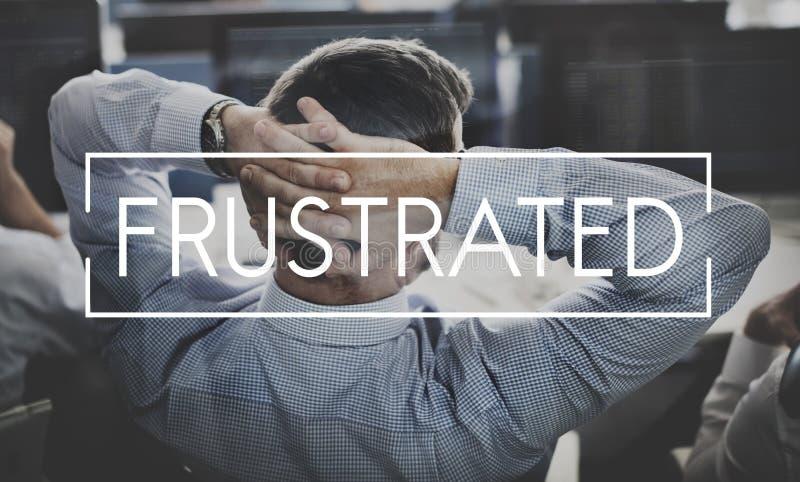 Concepto frustrado depresión del negocio de los problemas del fracaso fotos de archivo