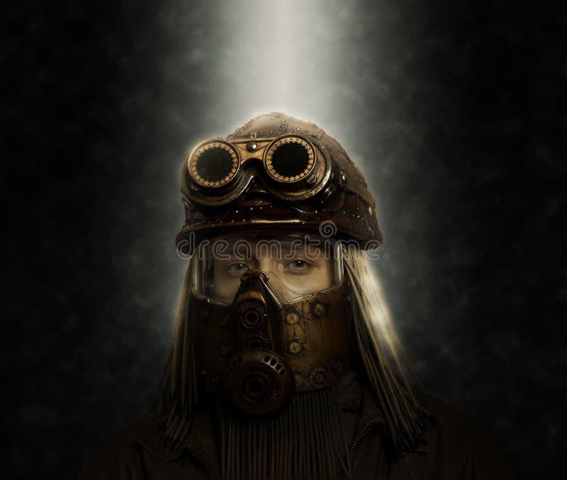 concepto futurista Posts-apocalíptico Steampunk fotos de archivo