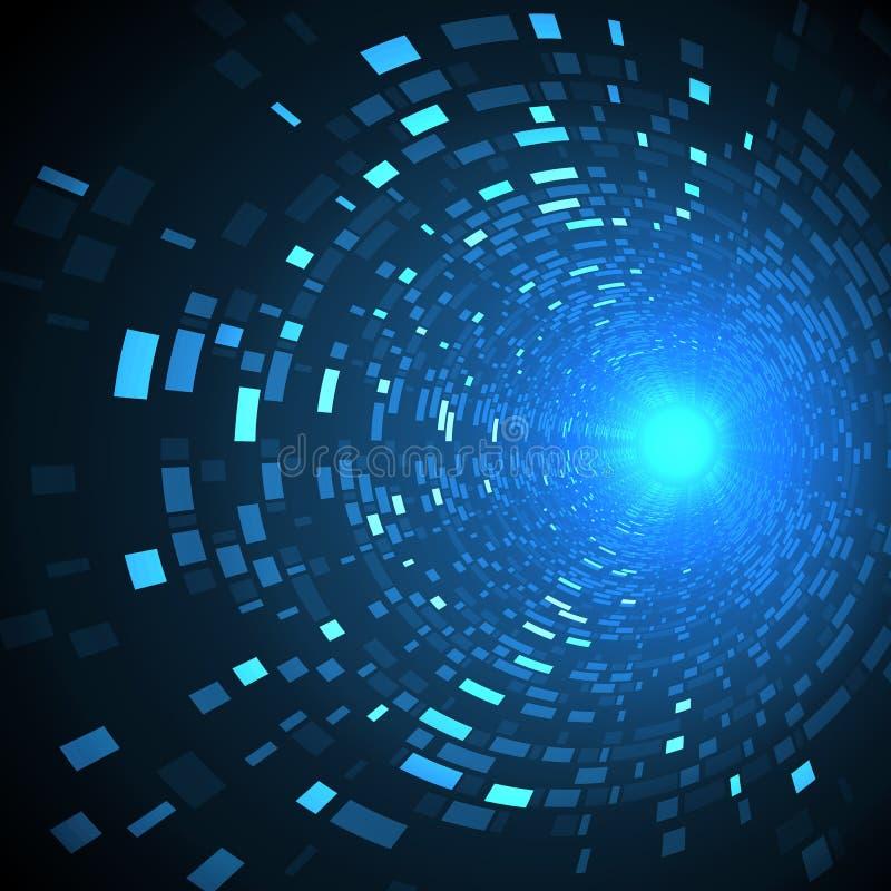 Concepto futuro abstracto de la tecnología, fondo de alta tecnología cibernético Diseño futurista de la ciencia ilustración del vector