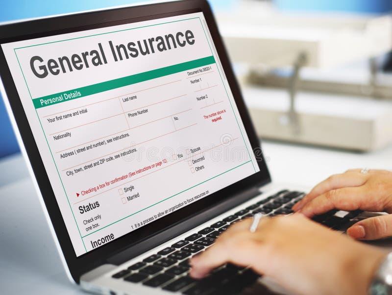 Concepto general de la información de forma de la rebaja del seguro fotos de archivo libres de regalías