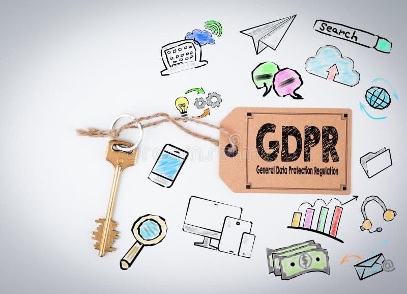 Concepto general de la regulación de la protección de datos de GDPR fotos de archivo libres de regalías