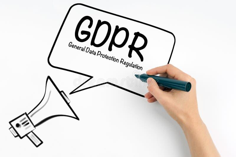 Concepto general de la regulación de la protección de datos de GDPR fotografía de archivo
