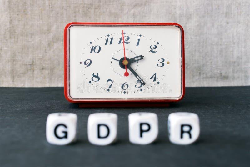 Concepto general de la regulación de la protección de datos Letras GDPR con re imagen de archivo libre de regalías