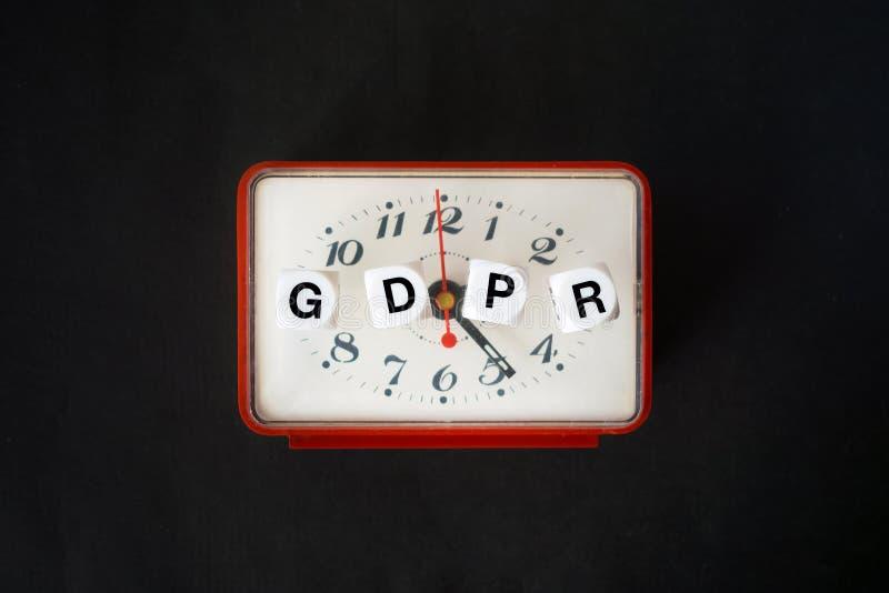 Concepto general de la regulación de la protección de datos Letras GDPR con re fotos de archivo