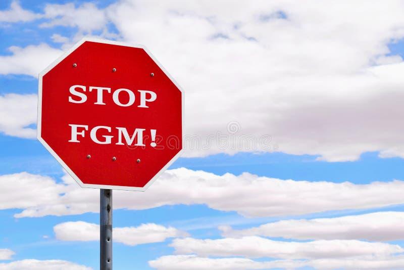 Concepto genital femenino de la mutilación de la parada fotografía de archivo