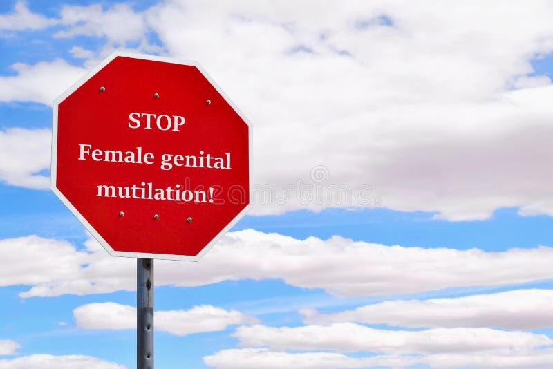 Concepto genital femenino de la mutilación de la parada foto de archivo libre de regalías