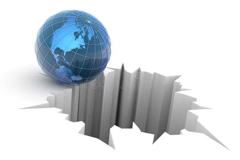 Concepto global de la caída ilustración del vector
