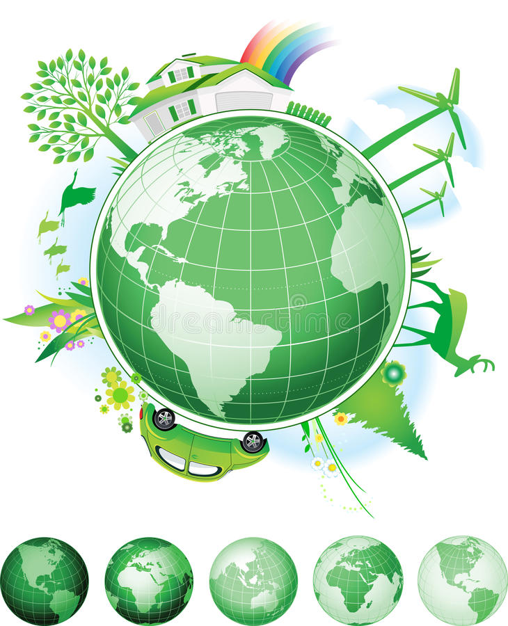 Concepto global de la conservación. ilustración del vector