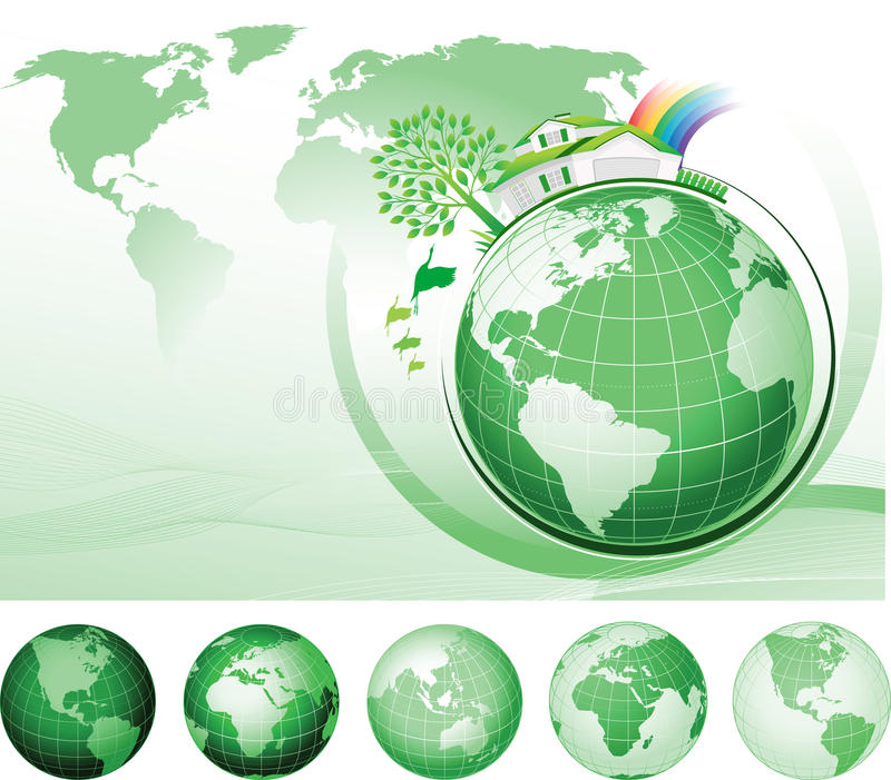 Concepto global de la conservación ilustración del vector