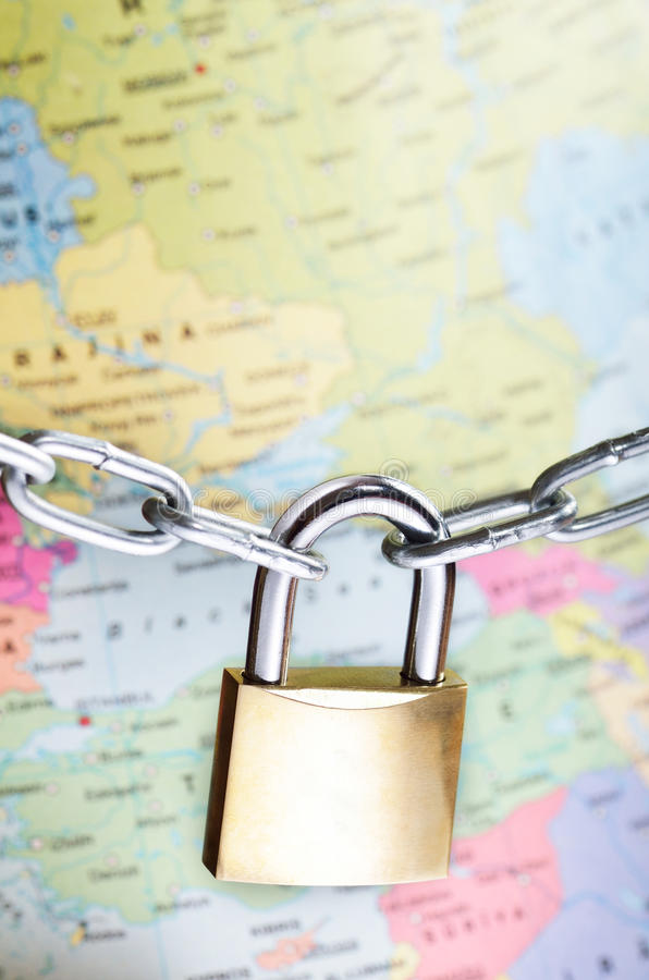 Concepto global de la seguridad imagen de archivo