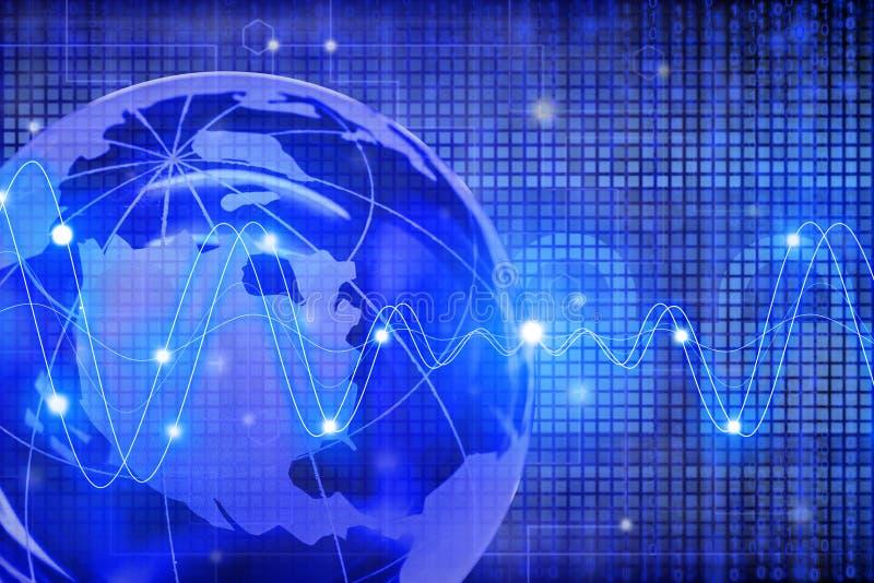 Concepto global de la seguridad de Internet con el globo y los candados libre illustration