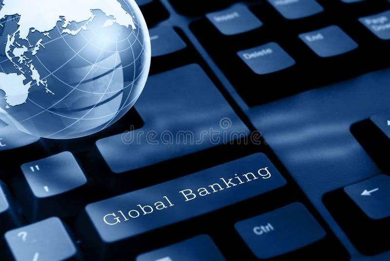 Concepto global de las actividades bancarias imagenes de archivo