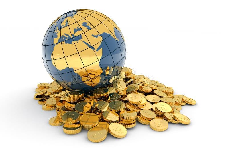 Concepto global de las finanzas (Europa) stock de ilustración