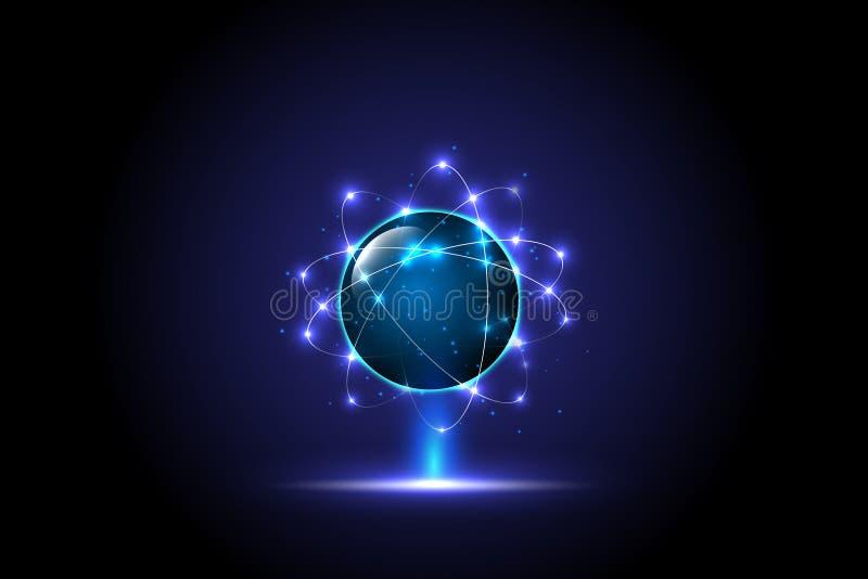 concepto global digital de la tecnología, fondo abstracto ilustración del vector
