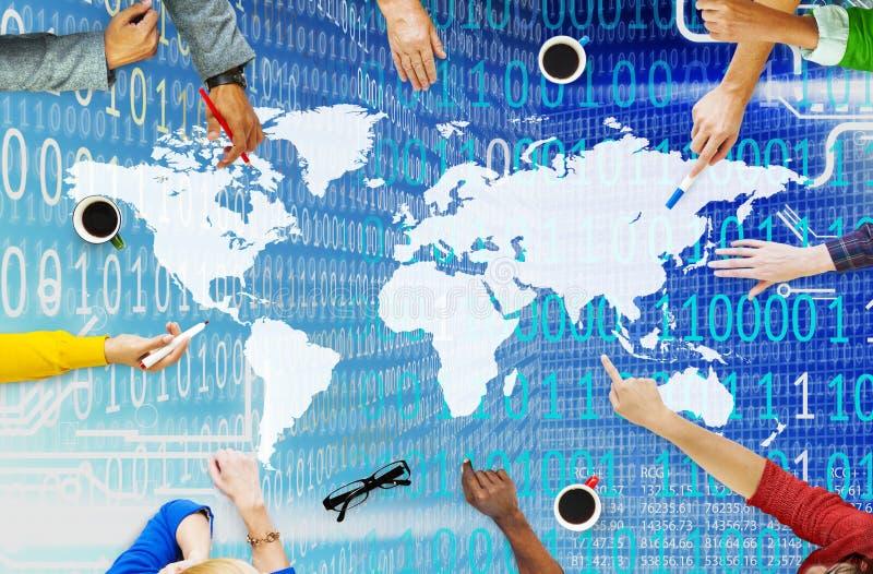 Concepto global mundial de la comunidad de la reunión social de la unidad fotos de archivo