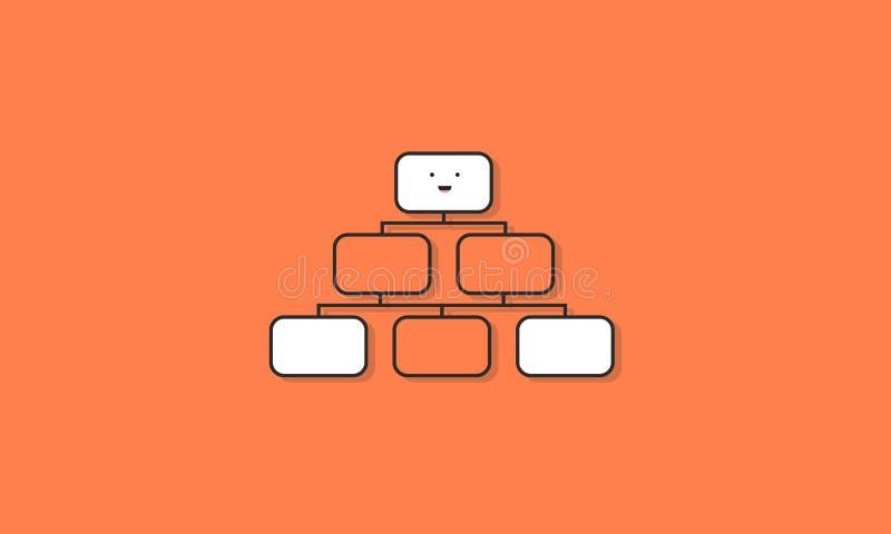 Concepto gráfico del vector del icono del organigrama libre illustration