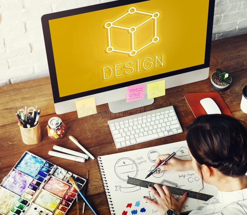 Concepto gráfico visual de Art Notion Scheme Thought Vision imagen de archivo libre de regalías