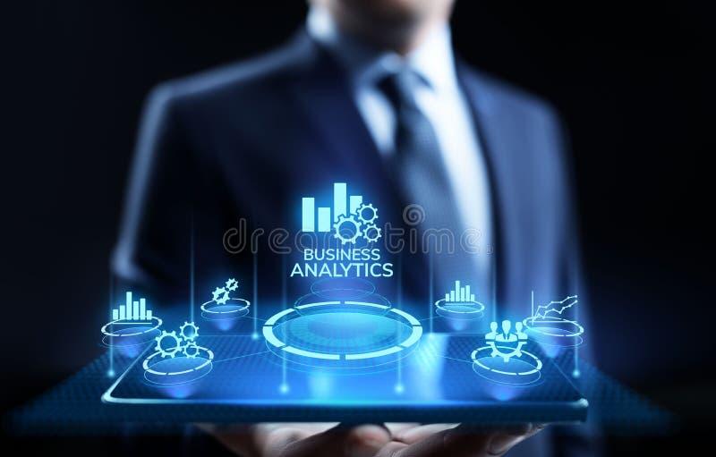 Concepto grande de la tecnología de los datos del BI del análisis de la inteligencia del analytics del negocio imagenes de archivo