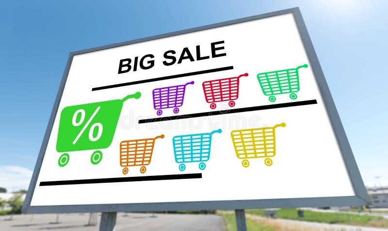 Concepto grande de la venta en una cartelera foto de archivo