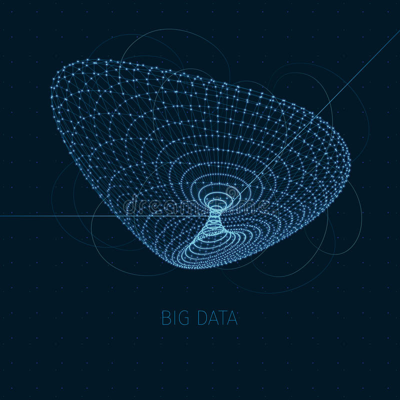 Concepto grande de los datos libre illustration