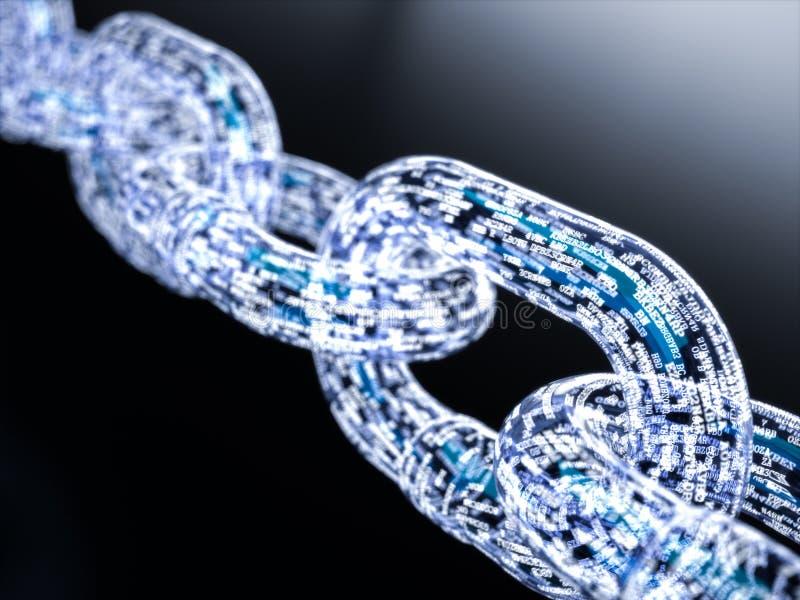 Concepto grande del blockchain de los datos stock de ilustración