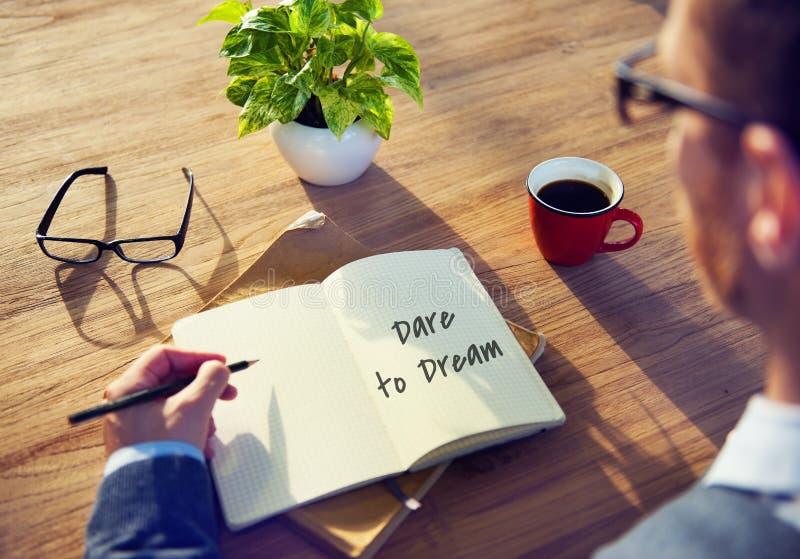 Concepto grande del sueño diario del planificador fotos de archivo