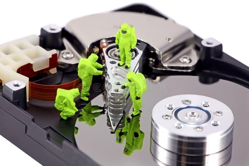 Concepto: HAZMAT quitan el virus foto de archivo libre de regalías
