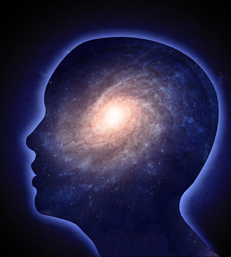 Concepto humano de la cognición ilustración del vector