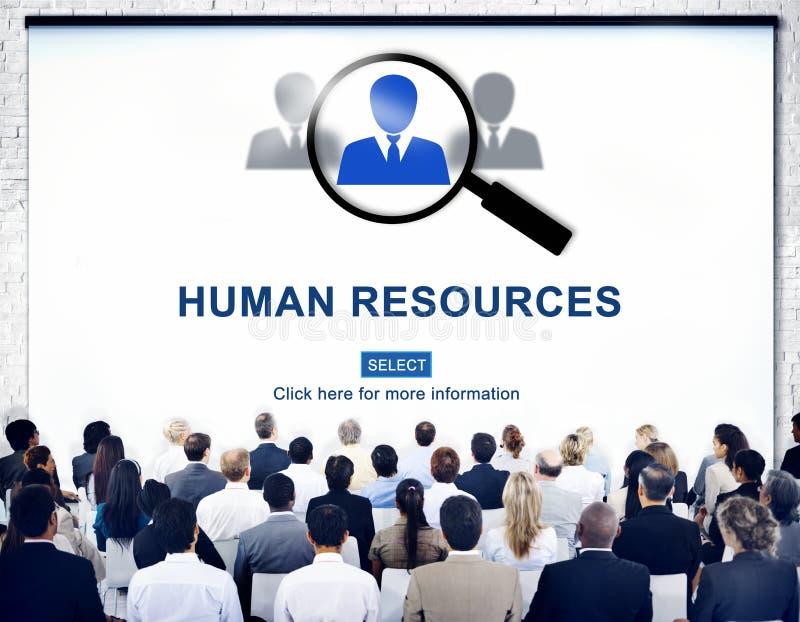 Concepto humano de la profesión del empleo de los trabajos del Resourcing imagenes de archivo