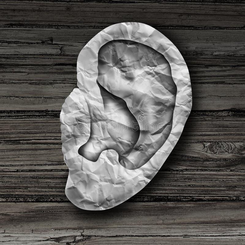 Concepto humano del oído ilustración del vector
