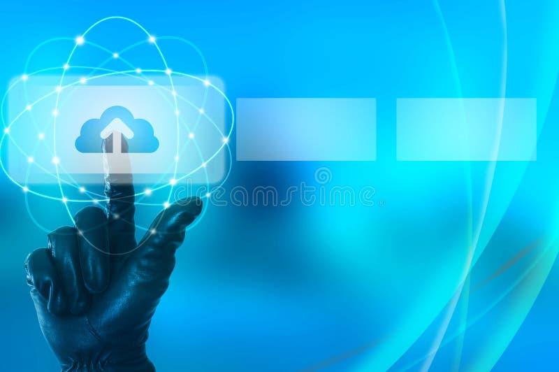 Concepto ilegal de la carga por teletratamiento de los datos imágenes de archivo libres de regalías
