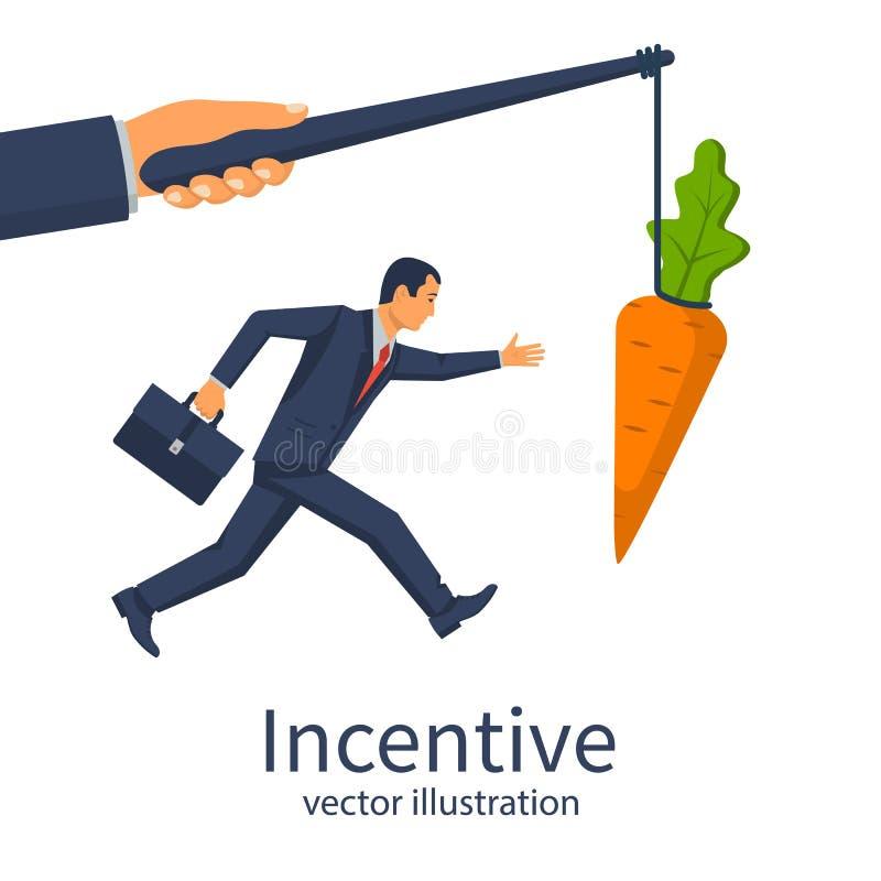 Concepto incentivo Metáfora del asunto libre illustration