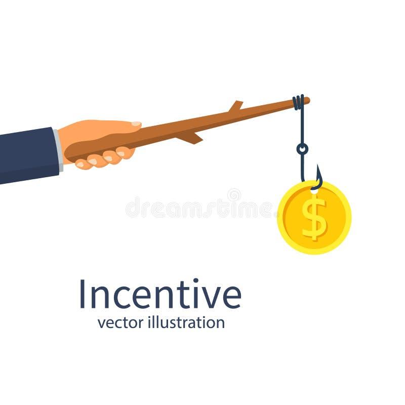 Concepto incentivo Metáfora del asunto stock de ilustración