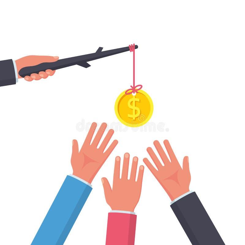Concepto incentivo Met?fora del asunto stock de ilustración