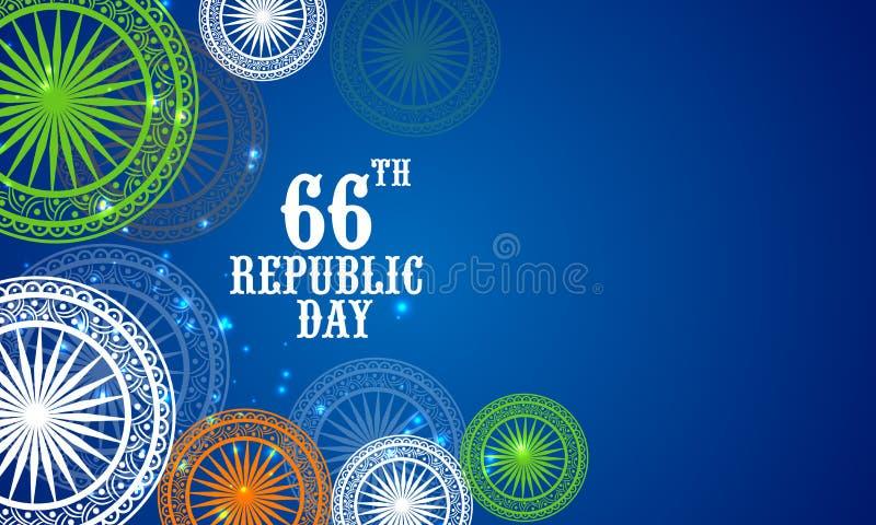 Concepto indio de la celebración del día de la república libre illustration