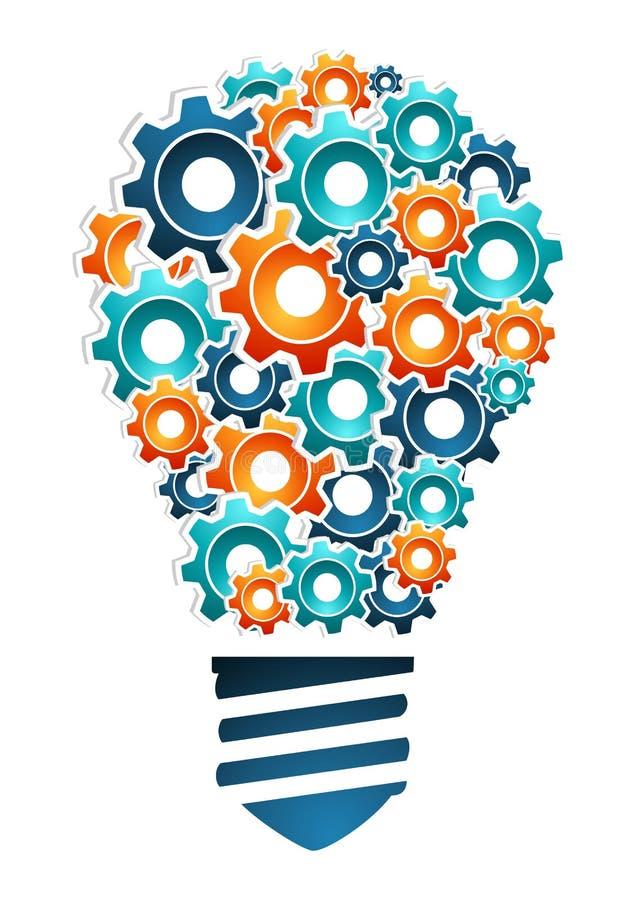 Concepto industrial de la innovación stock de ilustración