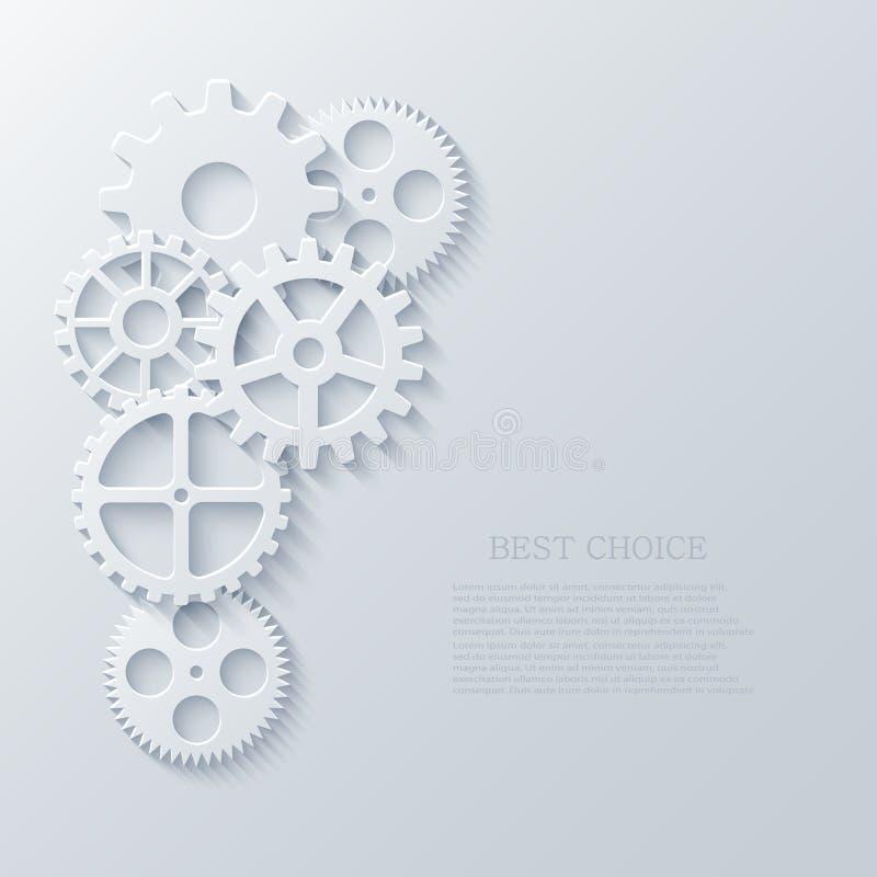 Concepto industrial del mecanismo moderno del vector La tecnología adapta el fondo libre illustration