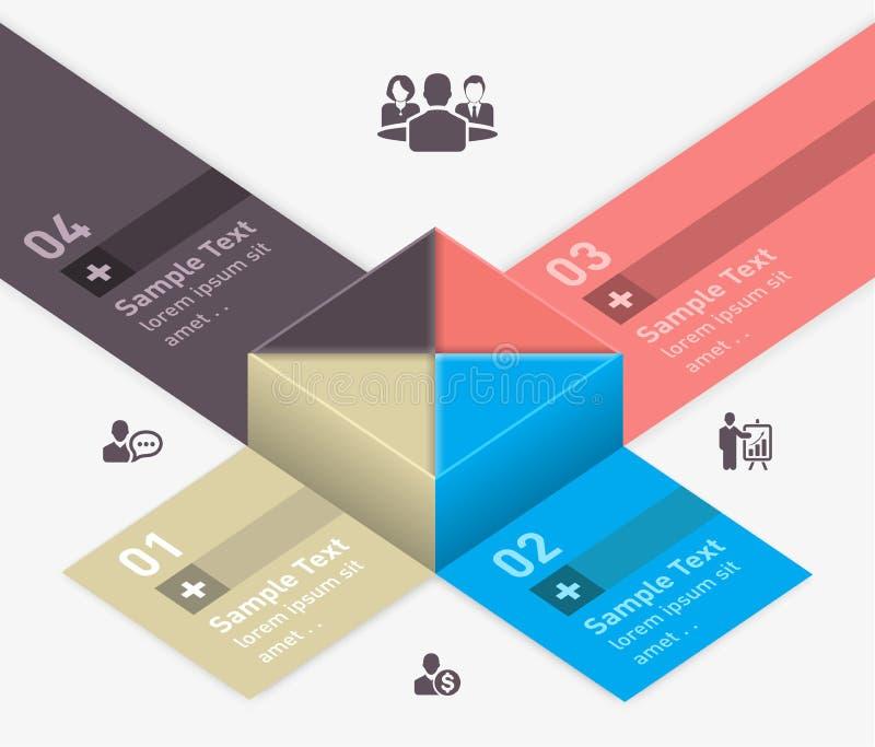 Concepto infographic del cubo moderno libre illustration