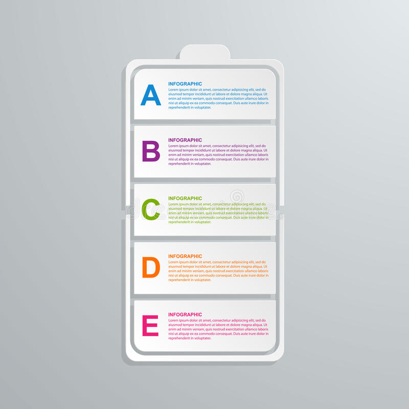 Concepto infographic del negocio de la tecnología de papel creativa libre illustration