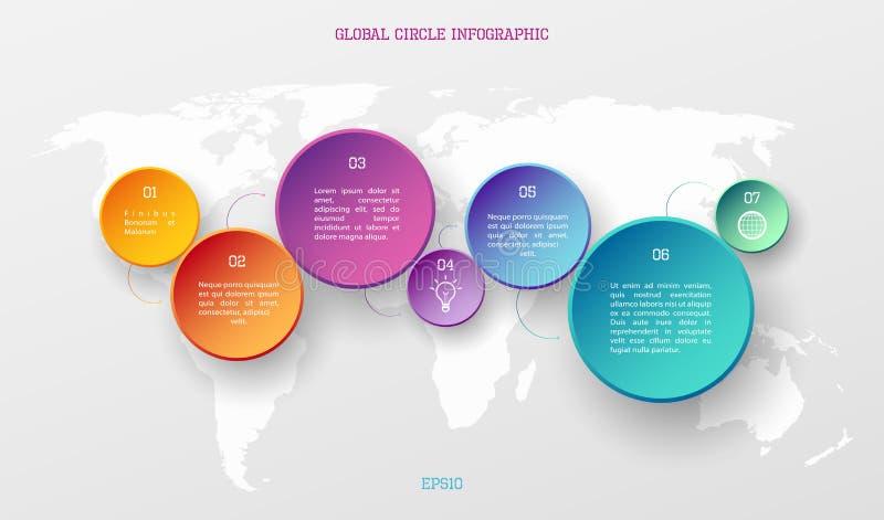 Concepto infographic global stock de ilustración