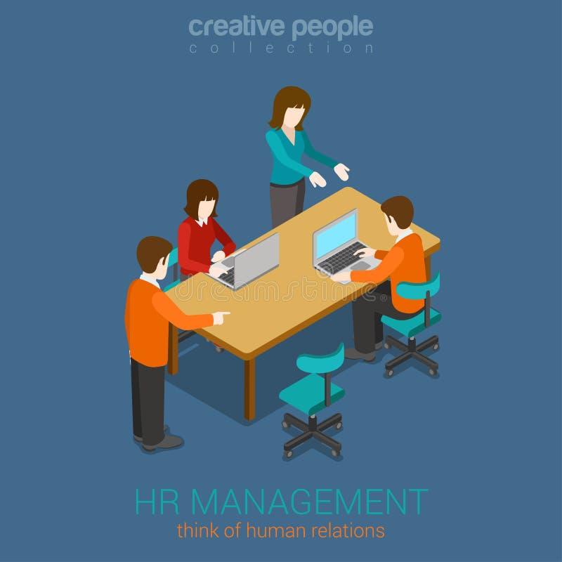 Concepto infographic isométrico del web plano creativo 3d de la gestión de la hora libre illustration
