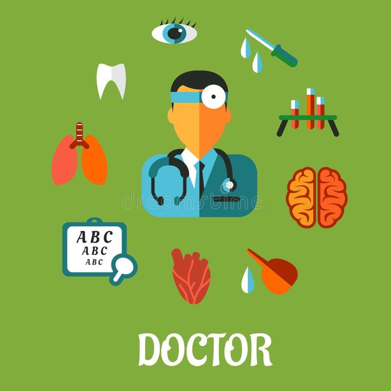 Concepto infographic plano médico ilustración del vector