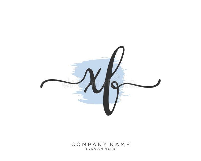 Concepto inicial del logotipo de la escritura de XF stock de ilustración