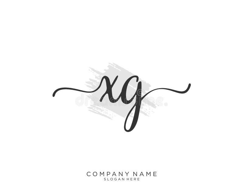 Concepto inicial del logotipo de la escritura de XG libre illustration